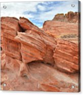 Wash 3 Beehives In Valley Of Fire Acrylic Print