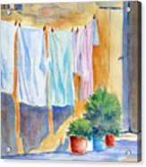 Wash Day In Marsaxlokk Acrylic Print