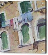 Washday In Venice Acrylic Print