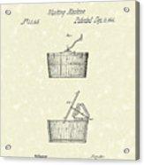 Washing Machine 1861 Patent Art Acrylic Print by Prior Art Design