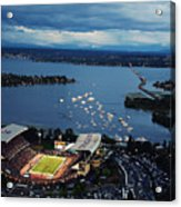 Washington Aerial View Of Husky Stadium Acrylic Print