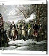 Washington And His Generals  Acrylic Print