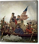Washington Crossing The Delaware River Acrylic Print by Emanuel Gottlieb Leutze