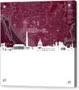 Washington Dc Skyline Map 3 Acrylic Print