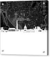 Washington Dc Skyline Map 5 Acrylic Print
