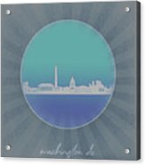 Washington Dc Skyline Minimalism 12 Acrylic Print