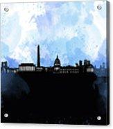 Washington Dc Skyline Minimalism 8 Acrylic Print
