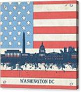 Washington Dc Skyline Usa Flag 3 Acrylic Print