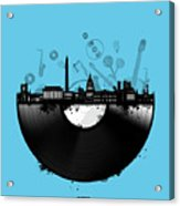 Washington Dc Skyline Vinyl 2 Acrylic Print