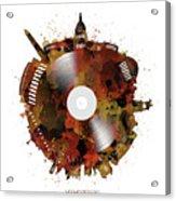 Washington Dc Skyline Vinyl 7 Acrylic Print