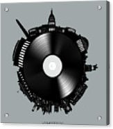 Washington Dc Skyline Vinyl 8 Acrylic Print