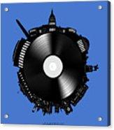 Washington Dc Skyline Vinyl 9 Acrylic Print