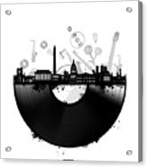 Washington Dc Skyline Vinyl Acrylic Print