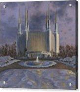 Washington Dc Temple Acrylic Print by Jeff Brimley