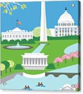 Washington, D.c. Vertical Skyline Acrylic Print