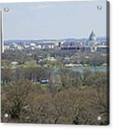 Washington Dc View From Custis Lee House Acrylic Print