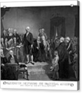 Washington Delivering His Inaugural Address Acrylic Print