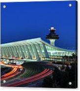 Washington Dulles International Airport At Dusk Acrylic Print