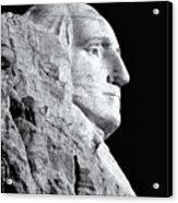 Washington Granite In Black And White Acrylic Print
