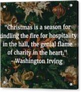 Washington Irving Quote Acrylic Print