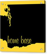 Washington Is Home Base Black Acrylic Print