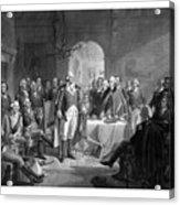 Washington Meeting His Generals Acrylic Print