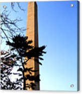 Washington Monument At Dusk Acrylic Print