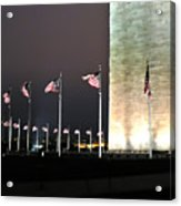 Washington Monument At Night Acrylic Print by Artistic Photos