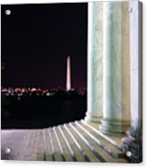Washington Monument From Stairs Of Jefferson Acrylic Print