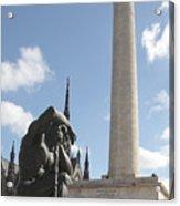 Washington Monument In Baltimore Acrylic Print