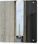 Washington Monuments Travel Acrylic Print