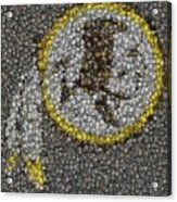 Washington Redskins Coins Mosaic Acrylic Print