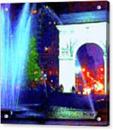 Washington Square Fountain 13c Acrylic Print