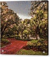 Washington Square In Mobile Alabama Painted Acrylic Print