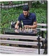 Washington Square Park Chess Man Acrylic Print