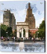 Washington Square Park Greenwich Village New York City Acrylic Print