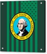 Washington State Flag Graphic Usa Styling Acrylic Print