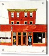 Washington Street Barbers Acrylic Print