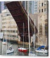 Washington Street Bridge Lift Chicago Acrylic Print