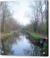 Washingtons Crossing - Along The Delaware Canal Acrylic Print