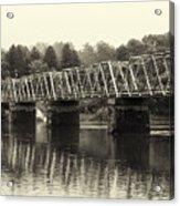 Washington's Crossing Bridge On A Rainy Day Acrylic Print