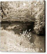 Washington's Crossing Pa - Route 532 Bridge Over The Delaware Ca Acrylic Print