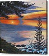 Waskesiu Sunset Acrylic Print