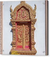 Wat Buppharam Phra Wihan Window Dthcm1581 Acrylic Print