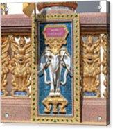 Wat Chedi Mae Krua Wihan Veranda Rail Decorations Dthcm1847 Acrylic Print