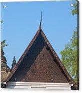 Wat Jed Yod Phra Ubosot Teakwood Gable Dthcm0968 Acrylic Print