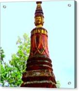 Wat Krom 32 Acrylic Print