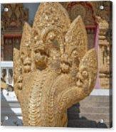Wat Kumpa Pradit Phra Wihan Five-headed Naga Dthcm1664 Acrylic Print