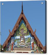 Wat Pho Samphan Phra Ubosot Gable Dthcb0066 Acrylic Print