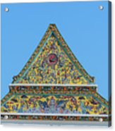 Wat Ratcha Orasaram Phra Wihan Gable Dthb0862 Acrylic Print